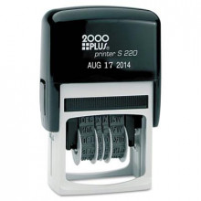 "2000 Plus Self-Inking Economy Dater, Black Ink, 1-1/2"" x 5/32"""
