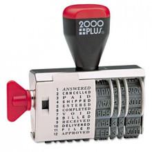 "2000 Plus 12-Phrase Dial-N-Stamp, 1-1/2"" x 1/8"""