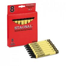 Crayola Staonal Marking Crayons, Black, 8-Crayons