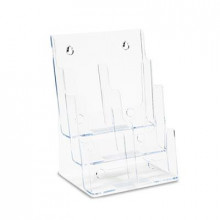 Deflect-o 6-Section Leaflet DocuHolder, Clear