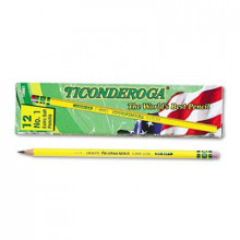 Dixon Ticonderoga #1 Yellow Woodcase Pencils, 12-Pack
