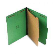 Universal 4-Section Letter 25-Point Pressboard Classification Folders, Emerald Green, 10/Box