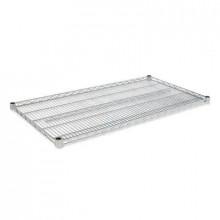 "Alera SW584824SR 48"" W x 24"" D 2-Pack Extra Shelves, Silver"