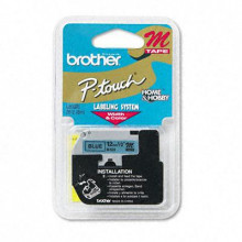 "Brother P-Touch M531 M Series 1/2"" x 26.2 ft. Tape Cartridge, Black on Blue"