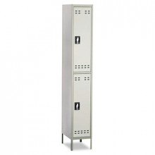 Safco 5523GR 2-Tiered High Lockers with Legs, Two Tone Gray