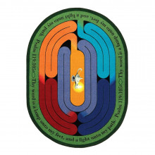 Joy Carpets Pathway of Light Classroom Rug (Shown in Oval)