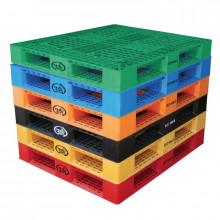 "Vestil 48"" W x 40"" L 6600 lb Capacity Plastic Pallet (all colors shown)"