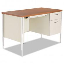 "Alera 45"" W Straight Front Steel Pedestal Teacher Desk"