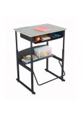 "Safco AlphaBetter 28"" x 20"" Height Adjustable Standing Book Box Student Desk"
