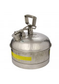 Eagle Stainless Steel 2.5 Gallon Laboratory Safety Can