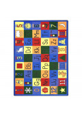 Joy Carpets Around the Block Rectangle Classroom Rug