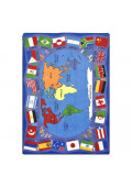 Joy Carpets Flags of the World Rectangle Classroom Rug