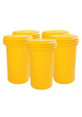 Eagle Screw Lid Polyethylene Lab Pack Drum, 55 Gal, Yellow, 5-Pack