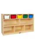 ECR4Kids Birch 5+5 Classroom Storage with Bins