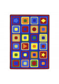 Joy Carpets Seeking Shapes Rectangle Classroom Rug