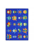 Joy Carpets Robot Invasion Rectangle Classroom Rug