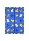 Joy Carpets Spring Things Rectangle Classroom Rug, Blue