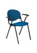 "KFI Seating T-Arm Polypropylene Stacking Chair, 31"" H x 22.5"" W"
