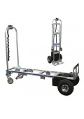 "Wesco Cobra Pro Sr 600/1200 lb Load 12"" x 50.75"" Bed Electric Powered Convertible Hand Truck"