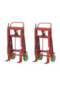 Wesco Rais-N-Rol 6000 lb Load Machinery Movers, Urethane Wheels