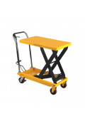 "Wesco 700 to 1000 lb Load 19.5"" x 32"" Manual Hydraulic Scissor Lift Tables"
