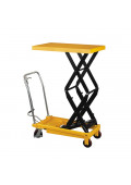 "Wesco 59"" H Double Scissor Lift Table 1,540 lb Load 24"" x 48"""