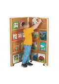 Jonti-Craft 2-Section Mobile Library Classroom Bookcase