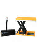 "Wesco Mini Electric Powered Scissor Lift Table 2200 lb Load 24"" x 35"""