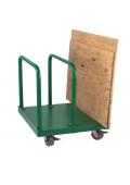 "Wesco Heavy Duty Greenline 4400 lb Load 29"" x 36"" Panel Cart 272227"