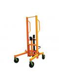 "Wesco HLDT-880 880 lb Load 76.75"" H Hydraulic Lift 55 & 85-Gallon Drum Truck Handler"