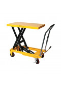 Wesco Heavy Duty 1650 to 2200 lb Load Manual Hydraulic Scissor Lift Tables