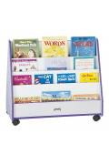 Jonti-Craft Rainbow Accents Pick-a-Book Mobile Display Stand