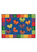 Carpets for Kids 123 Alphabet Butterfly Fun Classroom Rug