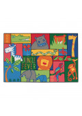 Carpets for Kids Jungle Fever Rectangle Classroom Rug