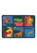 Carpets for Kids Dino-Mite 3' x 4' 6'' Rectangle Classroom Rug
