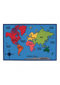 Carpets for Kids World Map Rectangle Classroom Rug