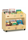Jonti-Craft 6-Section Mobile Book Display Stand Organizer