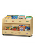 Jonti-Craft 8-Section Mobile Book Display Stand Organizer