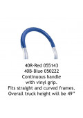 Wesco 40B Continuous Handle with Blue Vinyl Grip for Straight and Curved Frames