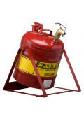 Justrite 7150156 Type I 5 Gallon Tilt Dispensing Safety Can, Red