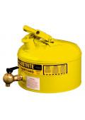 Justrite 7225240 Type I 2.5 Gallon Shelf Dispensing Safety Can, Yellow
