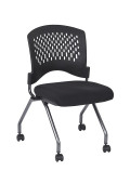 Office Star Pro-Line II Deluxe Plastic-Back FreeFlex Fabric Nesting Folding Chair, 2-Pack