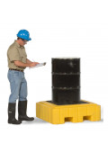 """Ultratech 9607 P1 Plus 40"""" W x 40"""" L Spill Containment 1-Drum Deck Pallet with Drain, 62 Gallons"""