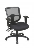 Office Star Pro-Line II ProGrid Mesh-Back Fabric Mid-Back Ergonomic Task Chair