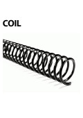 "Akiles Plastic Coil Bindings (100 Pcs.) 4:1 Pitch 12"" Length"