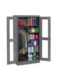 Tennsco Standard C-Thru Combination Wardrobe and Storage Cabinets