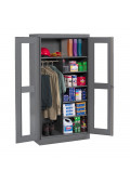 Tennsco Deluxe C-Thru Combination Wardrobe and Storage Cabinets