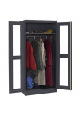 Tennsco Deluxe C-Thru Wardrobe Storage Cabinets