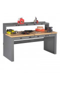 Tennsco Compressed Wood Electronic Workbenches with Panel Legs