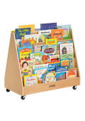"ECR4Kids 36"" W Birch Double Sided Mobile Book Display"
